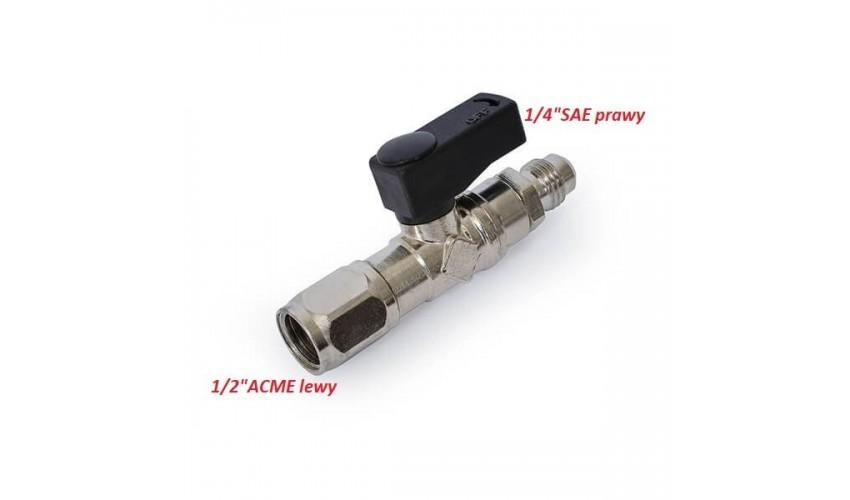 """Zawór do butli na czynnik R32 1/2"""" ACME F x 1/4"""" SAE M"""