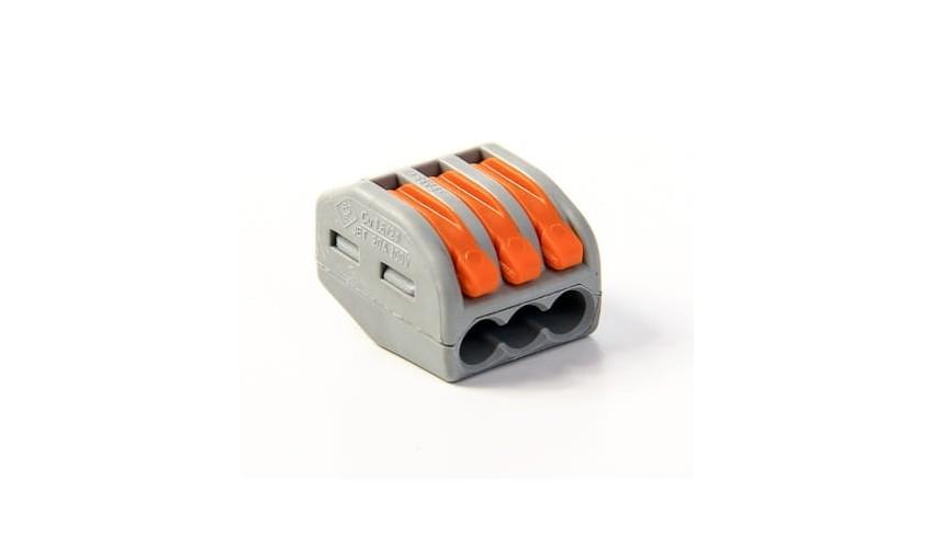 Złączka zaciskowa Wago 3x0.8-4mm drut i linka, 1szt