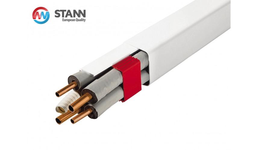 Koryto instalacyjne białe 2m, 80x60mm STANN