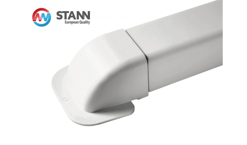 Maskownica ścienna koryta 80x60mm STANN