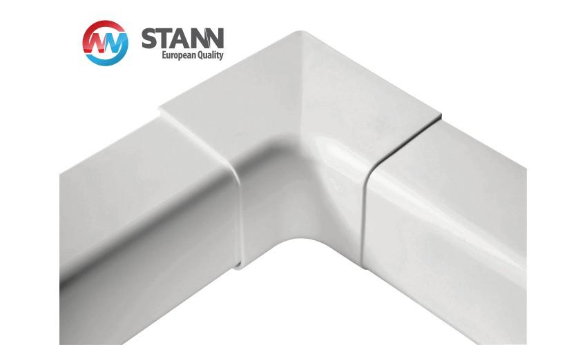 Narożnik wewnętrzny 90° koryta 80x60mm STANN