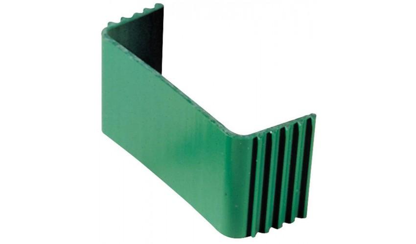 Klamra zaciskowa zielona do koryta 110x75mm
